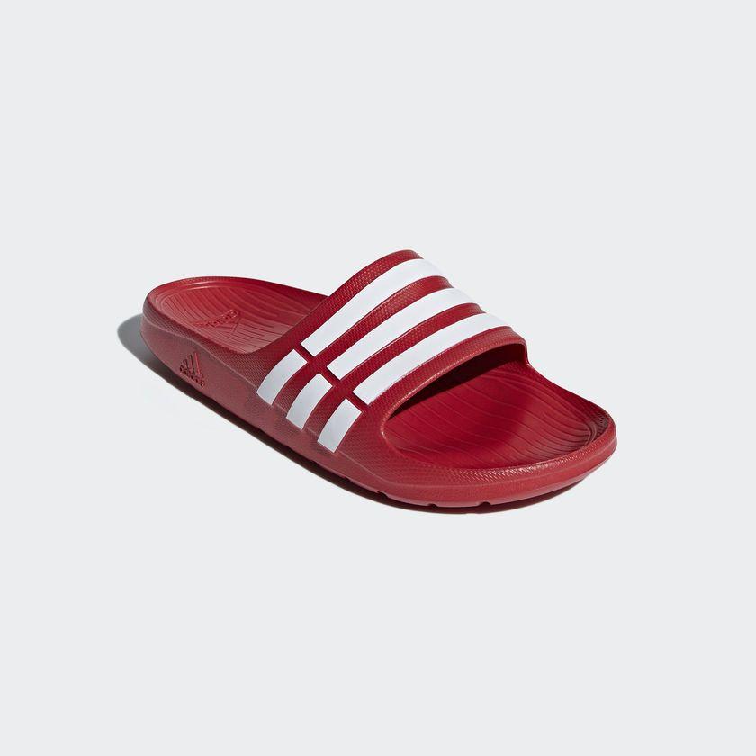 Adidas Klapki meskie Duramo czerwone r. 47 (G15886) G15886
