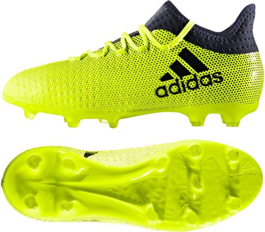 Adidas Buty pilkarskie X 17.1 Junior limonkowo-czarne r. 38 (S82297) S82297