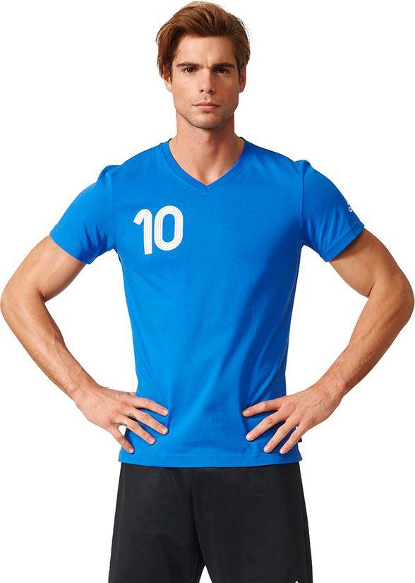 Adidas Koszulka meska Tango niebieska r. M (AZ9718) AZ9718