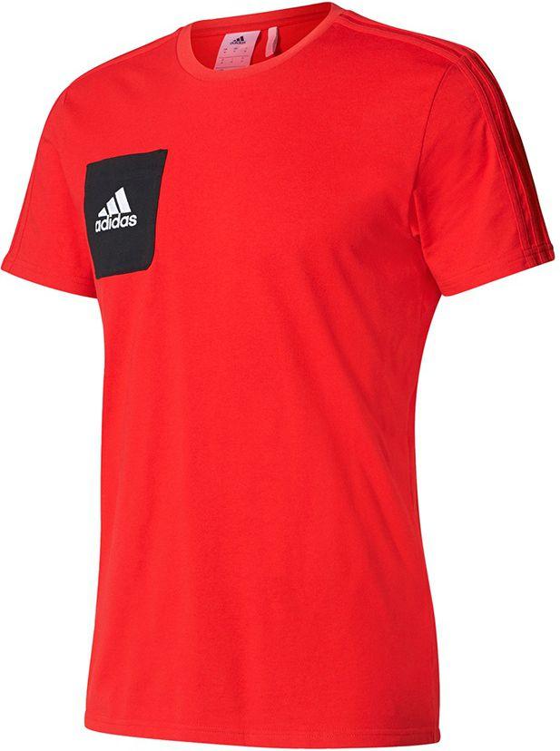Adidas Koszulka pilkarska meska Tiro 17 Tee czerwona r. M (BQ2658) BQ2658