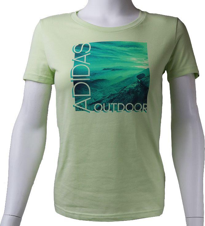Adidas Koszulka damska ADI Landscape Tee oliwkowa r. XS AI5930