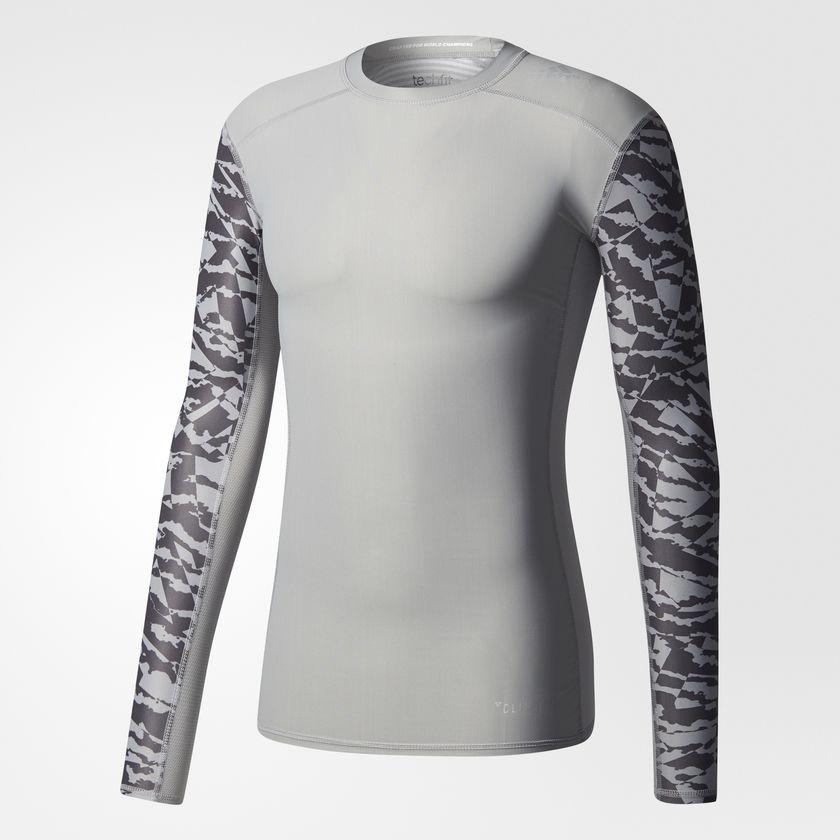 Adidas Koszulka meska TF Tee LS CI GX  szara r. M (CD3642) CD3642