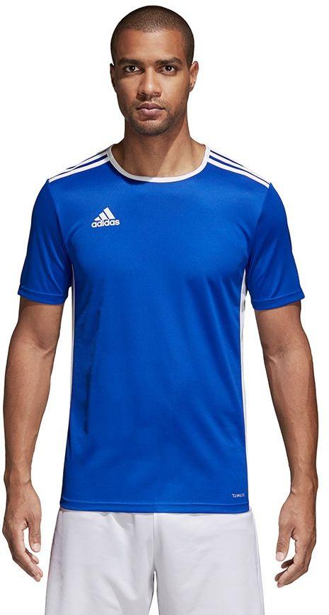 Adidas Koszulka pilkarska Entrada 18 niebieska r. S (CF1037) CF1037