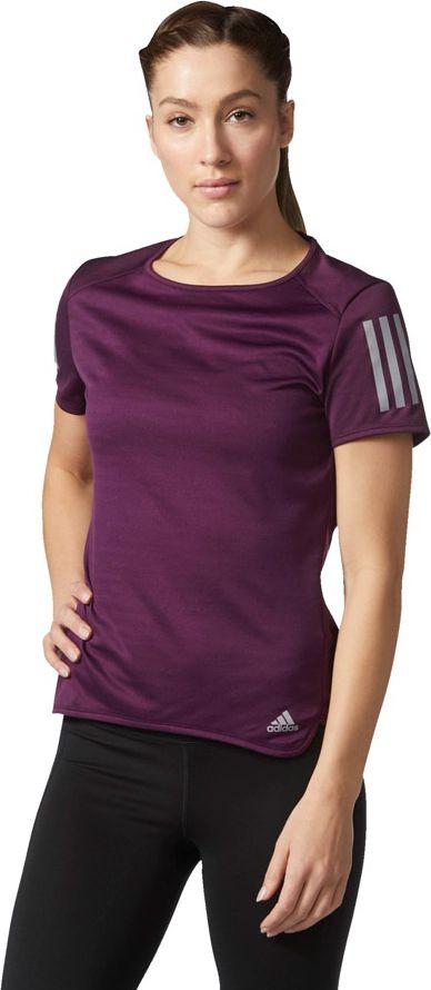 Adidas Koszulka RS SS TEE W fioletowa r. M (BQ7964) BQ7964
