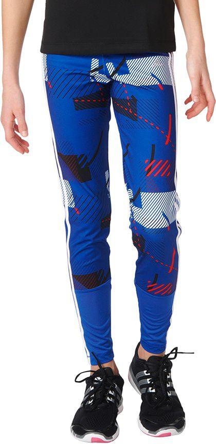 Adidas Legginsy  juniorskie Training All Over Printed niebieskie r. 152 (AY5640) AY5640