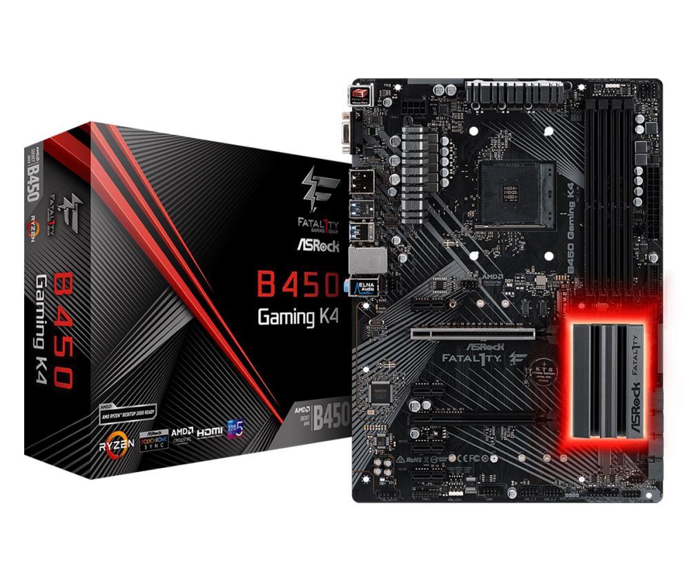 Mainboard | ASROCK | AMD B450 | SAM4 | ATX | 4xPCI-Express 2.0 1x | 6xPCI-Express 3.0 16x | 2xM.2 | Memory DDR4 | Memory slots 4 | 1x15pin D pamatplate, mātesplate