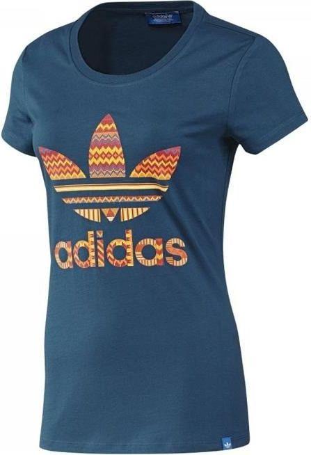Adidas Koszulka damska Trefoil niebieska r. XS (F82108) F82108