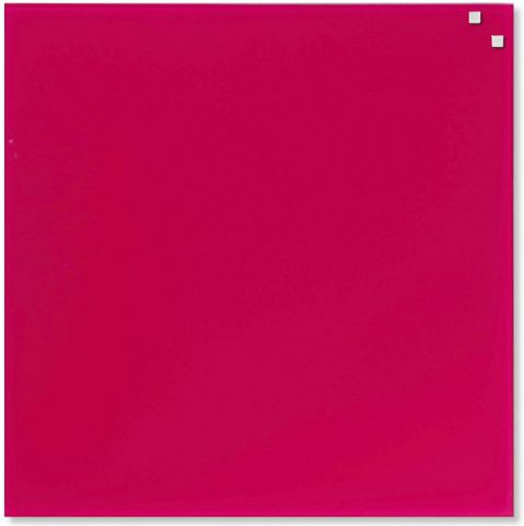 NAGA Magnetic glass board 45x45 cm pink