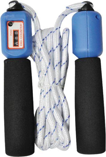 Axer Skakanka z licznikiem czarno-niebiesko-biala 275cm A2577