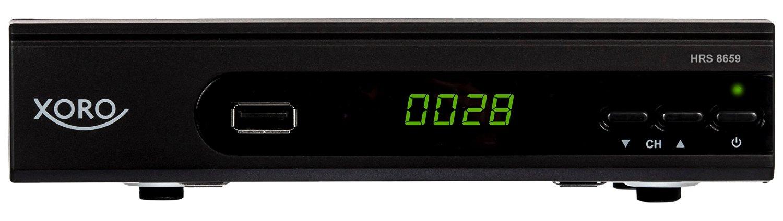 Xoro HRS 8659, HD DVB-S2 Receiver, PVR Ready, black Satelītu piederumi un aksesuāri