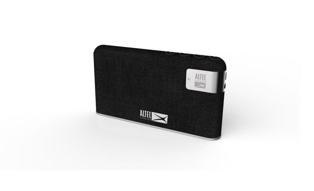 ALTEC LANSING   Stone   Portable/Wireless   P.M.P.O. 10 Watts   Bluetooth   Black pārnēsājamais skaļrunis