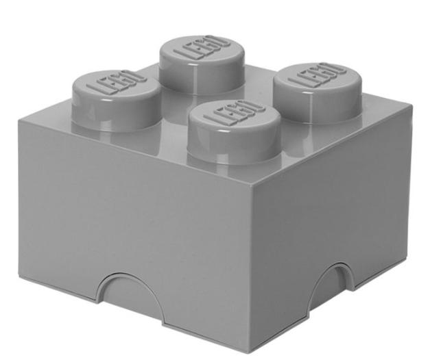 Box brick LEGO with 4 edging (Medium Stone Grey) LEGO konstruktors