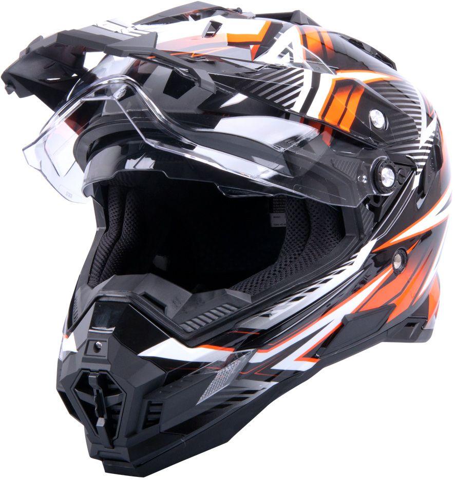 W-TEC Kask motocyklowy W-TEC AP-885 graphic Kolor czarny/pomaranczowy, Rozmiar XXL (63-64) - 9921-XXL-2 9921-XXL-2