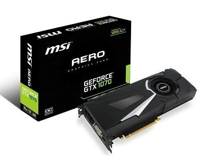 MSI GeForce GTX 1070 Aero 8G OC, 8192 MB GDDR5 video karte
