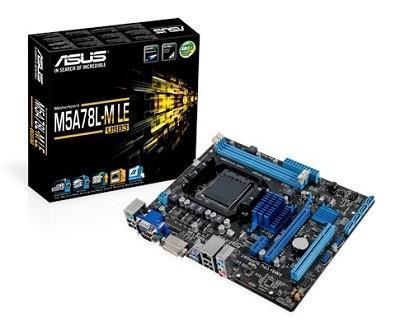 ASUS M5A78L-M LE/USB3 AM3+ AMD 760G (780L)/SB710 USB 3.0 Micro ATX AMD pamatplate, mātesplate