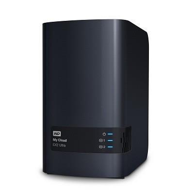 NAS WD My Cloud EX2 Ultra, RAID, 4TB, 10/100/1000 Mb/s, black Ārējais cietais disks