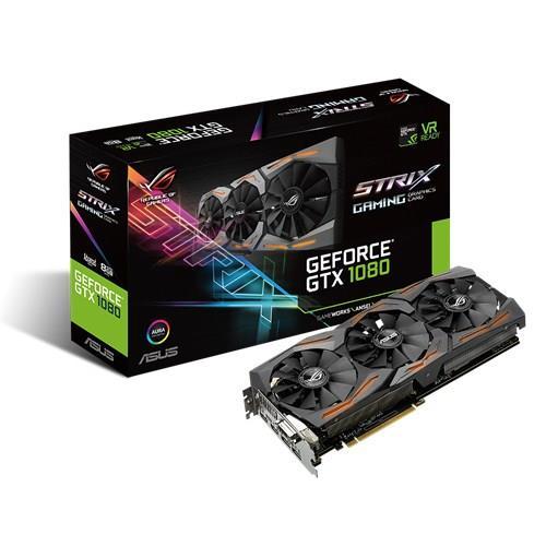 ASUS GeForce GTX 1080, 8GB GDDR5X (256 Bit), 2xHDMI, DVI, 2xDP video karte
