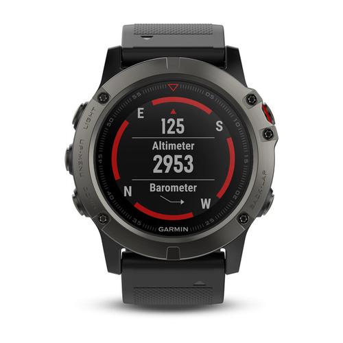 Garmin fenix 5X Sapphire - Slate grey with black band Viedais pulkstenis, smartwatch