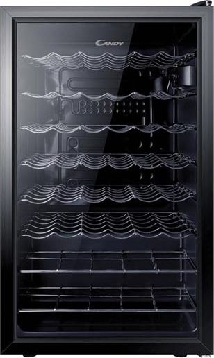 Candy Wine Cooler  CCV 150 SKEU Free standing, Showcase, Bottles capacity 41, Black Vīna skapji