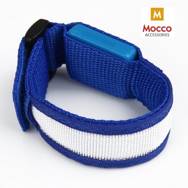 Mocco Universāla LED Rokas Aproce - Atstarotājs Zila Sporta aksesuāri