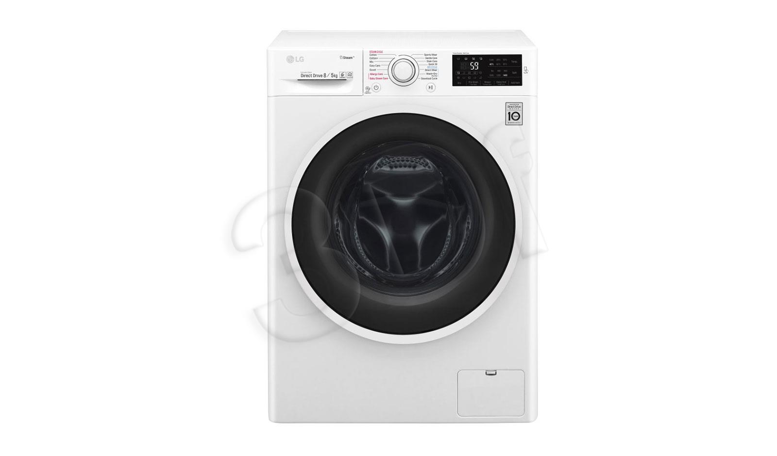 Washer-dryer LG F4J6TG0W (1400 rpm; 8 kg; 560 mm) AGDLG-SUW0003 Veļas žāvētājs