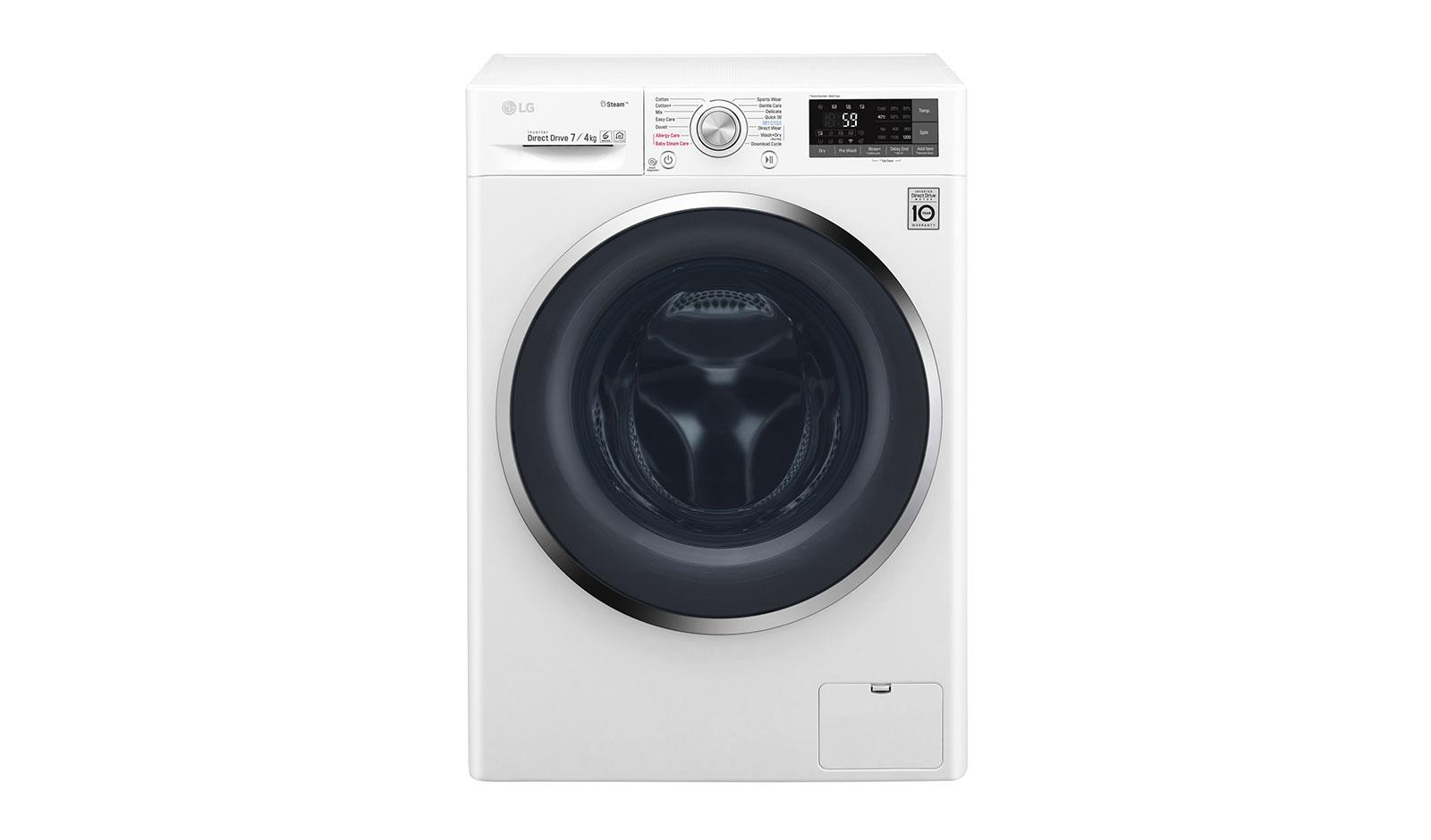 Washer-dryer LG F2J7HG2W (1200 rpm; 7 kg; 450 mm) AGDLG-SUW0002 Veļas žāvētājs