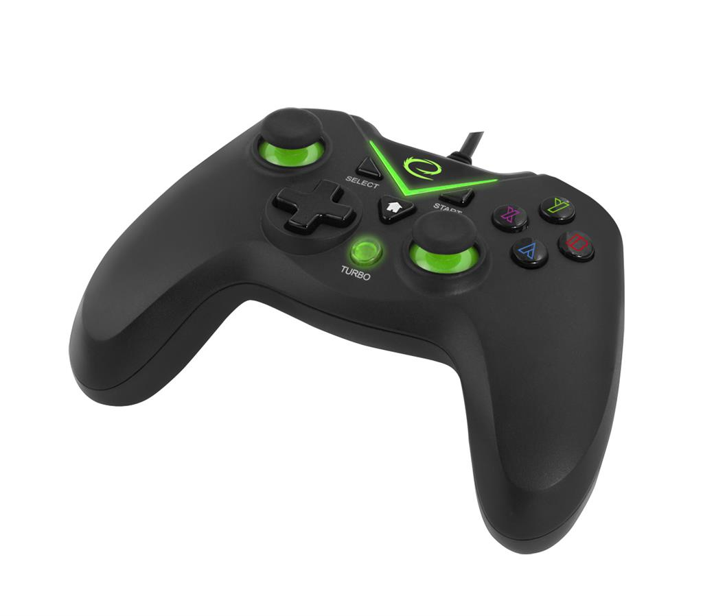 ESPERANZA EGG111K CAPTAIN - VIBRATION GAMEPAD FOR PC/PS3/XBOX ONE/ANDROID USB spēļu konsoles gampad