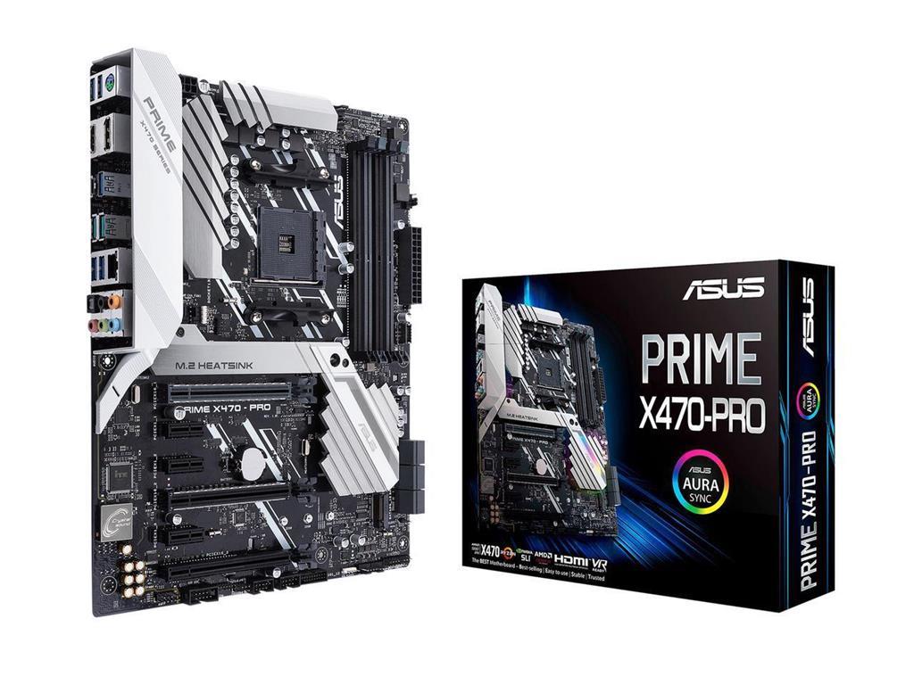 PRIME X470-PRO AM4 4DDR 4 HDMI/DP/M.2 USB3.1 AT pamatplate, mātesplate