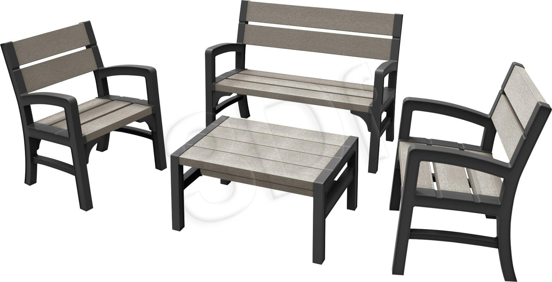 Furniture set KETER  233152 (graphite color) 233152 Dārza mēbeles