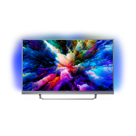 PHILIPS Ultra HD, AndroidTV Ambilight 3 P5 Perfect Picture Engine, Visible Sound, 1700 PPI LED TV 49PUS7503/12 LED Televizors
