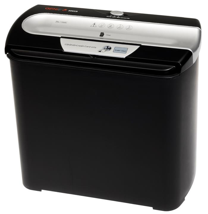 Genie strip cut paper shredder 255 CD DIN P-1 papīra smalcinātājs