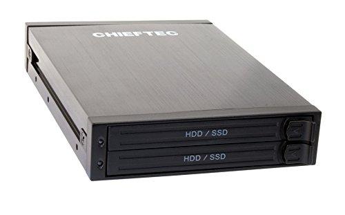 Chieftec ATM-1322S-RD 1x3.5inch bay for 2x2.5inch SATA HDD, Hot-Swap, Aluminium cietā diska korpuss