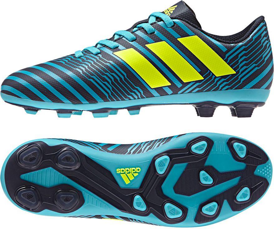 Adidas Buty pilkarskie Nemeziz 17.4 FxG Junior niebiesko-czarne r. 30 (S82458) S82458