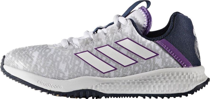 Adidas  Buty dzieciece RapidaTurf REAL K biale r. 37 1/3 (BA9699) BA9699