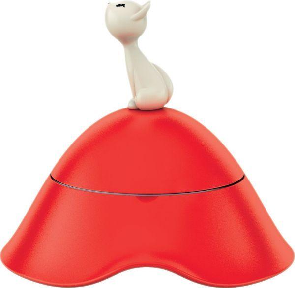 Alessi Miska dla kota z pokrywka termoplastik, stal nierdzewna czerwony (8003299965304) AMMI23 R piederumi kaķiem
