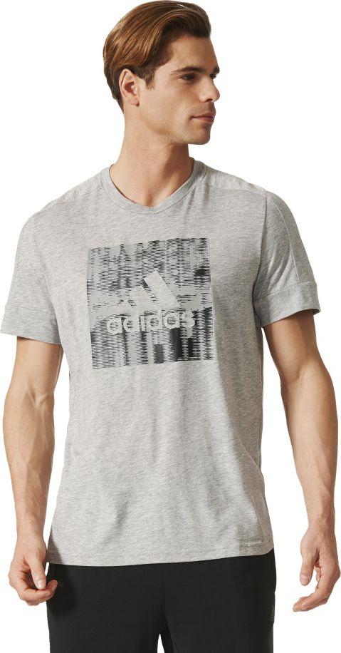 Adidas Koszulka meska ID Flash Tee szara r. XL (BR4053) BR4053