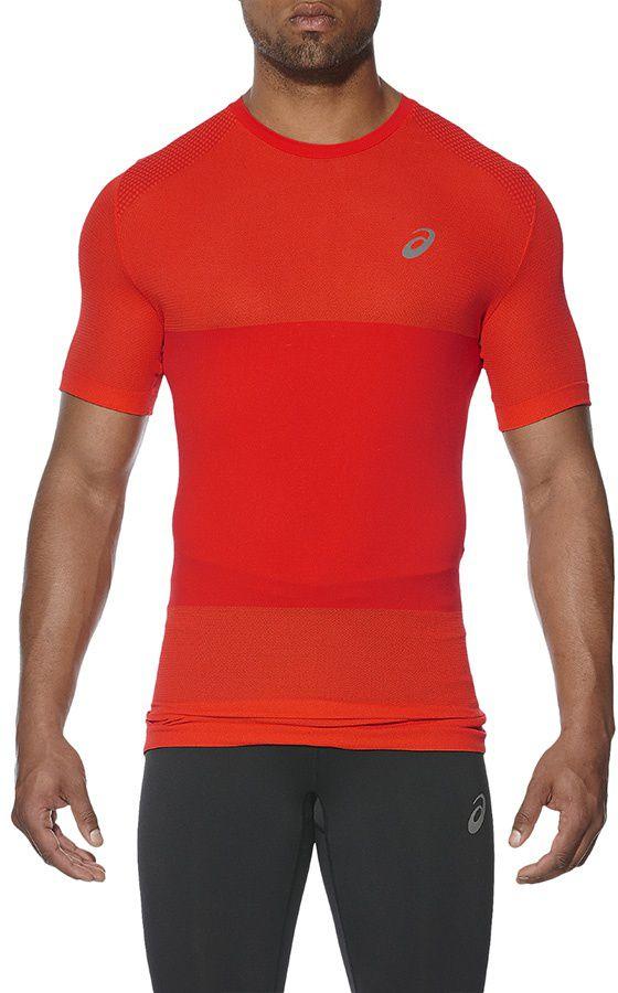 Asics Koszulka meska bezszwowa fuzeX Seamless SS czerwona r. XL (141239 0626) 141239 0626