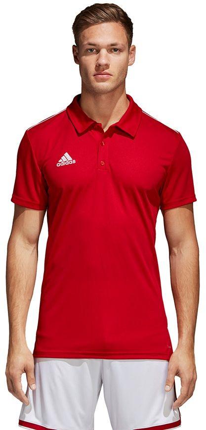 Adidas Koszulka pilkarska CORE 18 Polo czerwona r. XL (CV3591) CV3591