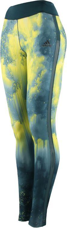 Adidas Legginsy WOW Tight Drop 3 zielone r. XS (AP9533) AP9533