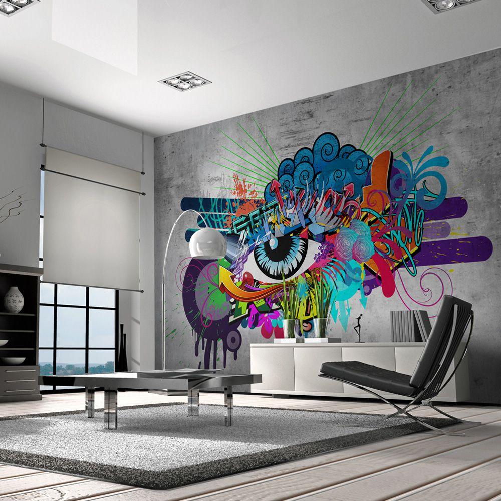 Artgeist Fototapeta - Graffiti eye 350x245 BP-3XLNEW010150