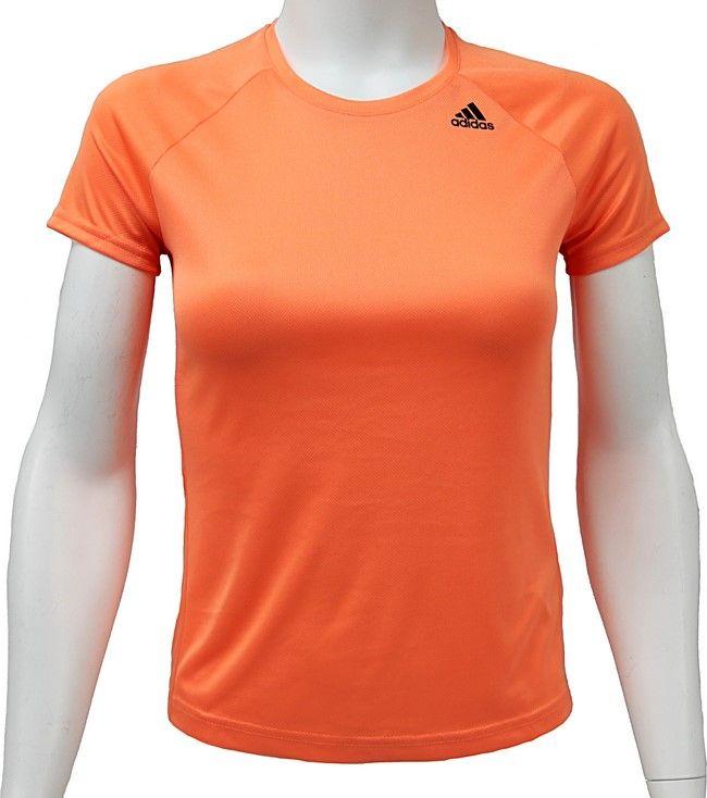 Adidas Koszulka damska D2M Tee Lose pomaranczowa r. S BS1921