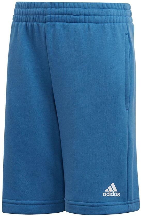 Adidas Spodenki dzieciece YB Logo Short niebieskie r. 128 cm (CW3830) CW3830