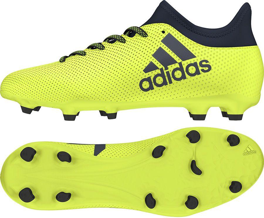 Adidas Buty pilkarskie X 17.3 FG Junior limonkowe r. 36 (S82369) S82369