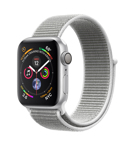 Apple Watch Series 4 GPS 40mm Silver Alu Seashell Loop Viedais pulkstenis, smartwatch