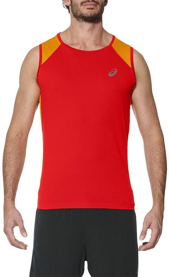 Asics Koszulka meska Race Singlet czerwona r. S (141195 0626) 141195 0626