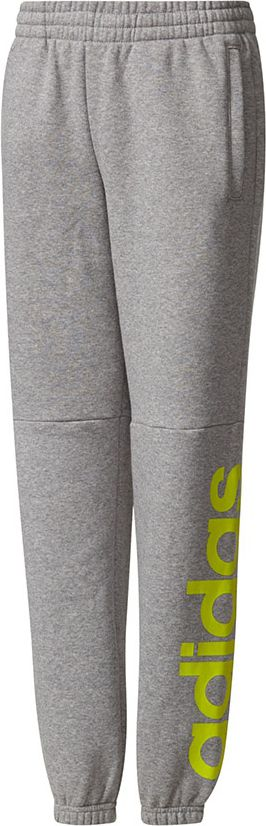 Adidas Spodnie juniorskie YB LIN Pant szare r. 140 cm (CE8825) CE8825