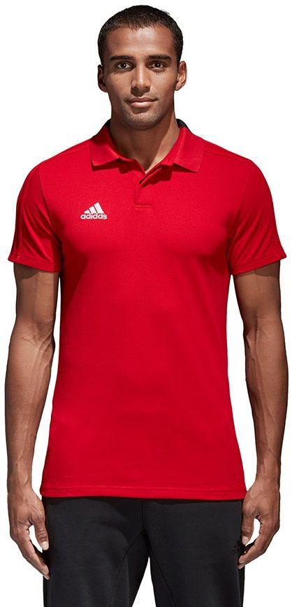 Adidas Koszulka pilkarska Condivo 18 CO Polo czerwona r. L (CF4376) CF4376