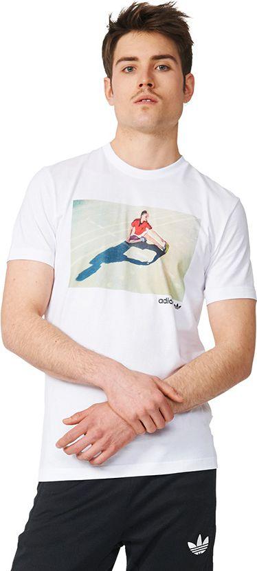 Adidas Koszulka meska Girl Tee biala r. M (AZ1083) AZ1083