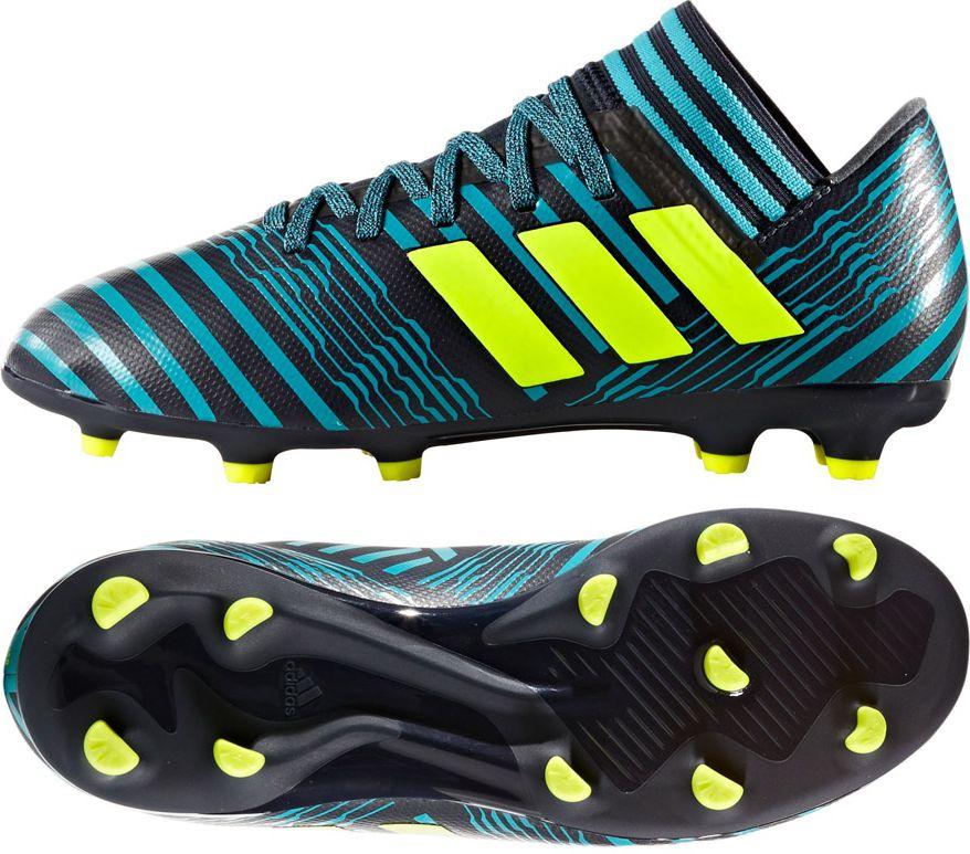 Adidas Buty pilkarskie Nemeziz 17.3 FG Junior czarno-niebieskie r. 30 (S82427) S82427
