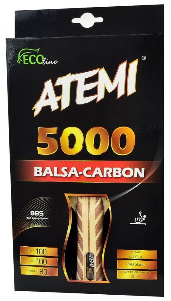 Atemi RAKIETKA T.S 5000 BALSA CARBON concave  (17205) 17205